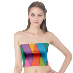 Colorful Lines Pattern Tube Top