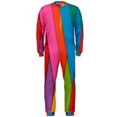 Colorful Lines Pattern OnePiece Jumpsuit (Men)