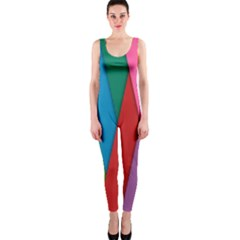 Colorful Lines Pattern OnePiece Catsuit