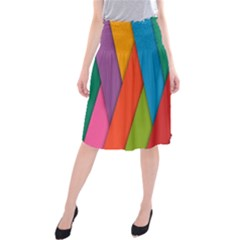 Colorful Lines Pattern Midi Beach Skirt