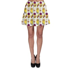 Hamburger And Fries Skater Skirt