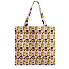 Hamburger And Fries Grocery Tote Bag
