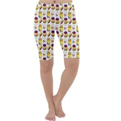 Hamburger And Fries Cropped Leggings