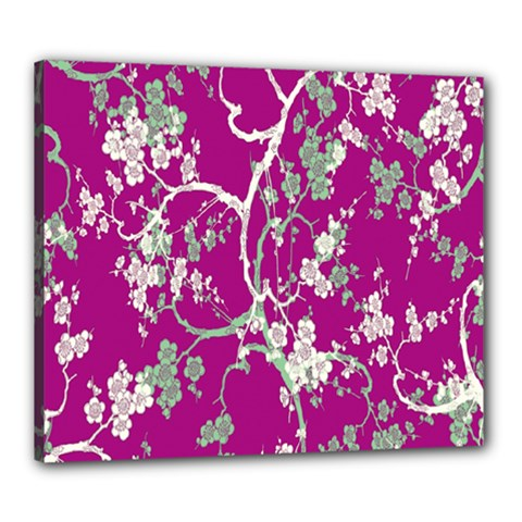 Floral Pattern Background Canvas 24  X 20
