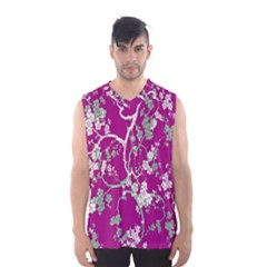 Floral Pattern Background Men s Basketball Tank Top