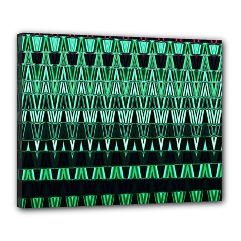Green Triangle Patterns Canvas 20  X 16