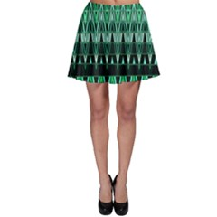 Green Triangle Patterns Skater Skirt