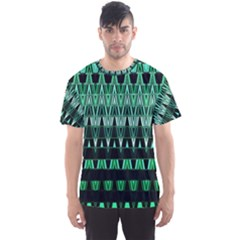 Green Triangle Patterns Men s Sport Mesh Tee