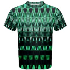 Green Triangle Patterns Men s Cotton Tee