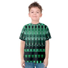 Green Triangle Patterns Kids  Cotton Tee