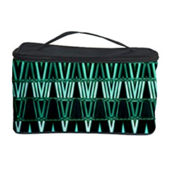 Green Triangle Patterns Cosmetic Storage Case