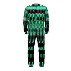 Green Triangle Patterns OnePiece Jumpsuit (Kids)