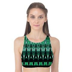 Green Triangle Patterns Tank Bikini Top