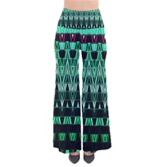 Green Triangle Patterns Pants