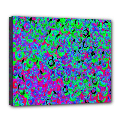 Green Purple Pink Background Deluxe Canvas 24  x 20