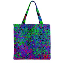 Green Purple Pink Background Grocery Tote Bag