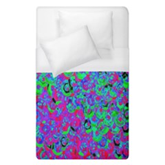 Green Purple Pink Background Duvet Cover (single Size)