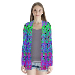 Green Purple Pink Background Cardigans