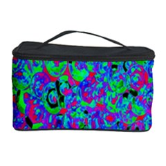 Green Purple Pink Background Cosmetic Storage Case