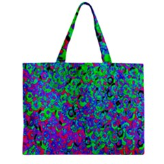 Green Purple Pink Background Zipper Mini Tote Bag