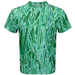 Green Background Pattern Men s Cotton Tee