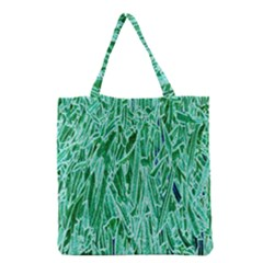 Green Background Pattern Grocery Tote Bag