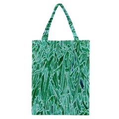 Green Background Pattern Classic Tote Bag