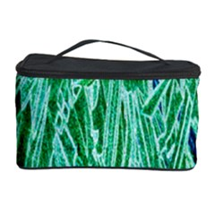 Green Background Pattern Cosmetic Storage Case