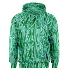 Green Background Pattern Men s Pullover Hoodie