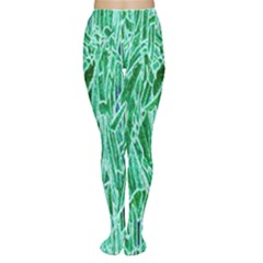 Green Background Pattern Women s Tights