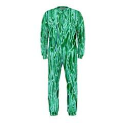 Green Background Pattern OnePiece Jumpsuit (Kids)