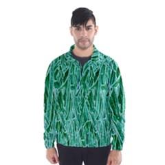 Green Background Pattern Wind Breaker (Men)
