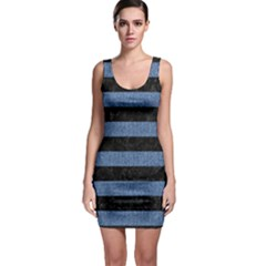 STR2 BK-MRBL BL-DENM Sleeveless Bodycon Dress