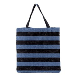 STR2 BK-MRBL BL-DENM Grocery Tote Bag