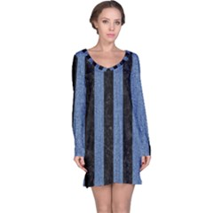 STR1 BK-MRBL BL-DENM Long Sleeve Nightdress