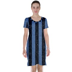 STR1 BK-MRBL BL-DENM Short Sleeve Nightdress