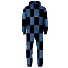 SQR1 BK-MRBL BL-DENM Hooded Jumpsuit (Men)