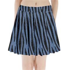 SKN4 BK-MRBL BL-DENM Pleated Mini Skirt