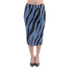 SKN3 BK-MRBL BL-DENM (R) Midi Pencil Skirt