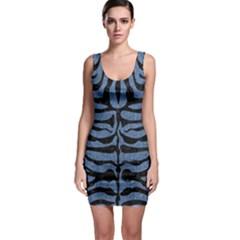 SKN2 BK-MRBL BL-DENM (R) Sleeveless Bodycon Dress