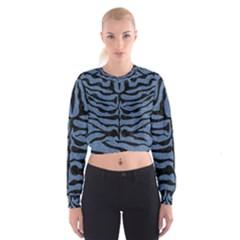 SKN2 BK-MRBL BL-DENM (R) Women s Cropped Sweatshirt