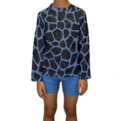 SKN1 BK-MRBL BL-DENM (R) Kids  Long Sleeve Swimwear