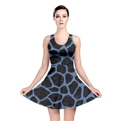 SKN1 BK-MRBL BL-DENM (R) Reversible Skater Dress