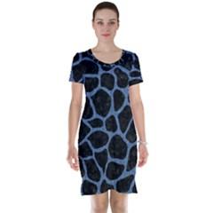 SKN1 BK-MRBL BL-DENM (R) Short Sleeve Nightdress