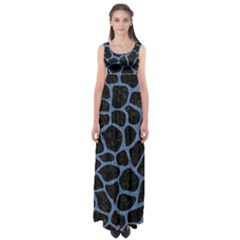 SKN1 BK-MRBL BL-DENM (R) Empire Waist Maxi Dress