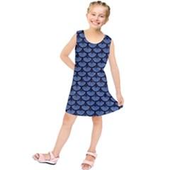 SCA3 BK-MRBL BL-DENM (R) Kids  Tunic Dress