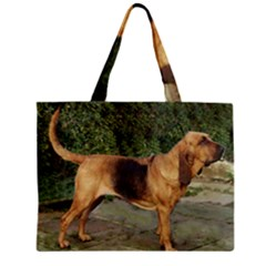 Bloodhound Black And Tan Full Zipper Mini Tote Bag