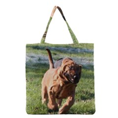 Bloodhound Running Grocery Tote Bag