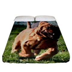 Bloodhound Running Fitted Sheet (California King Size)