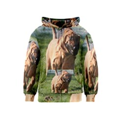 Bloodhound Running Kids  Zipper Hoodie